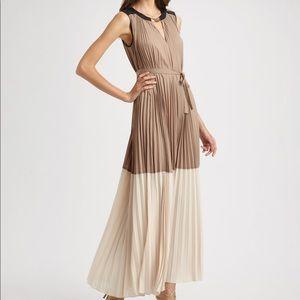 BCBG Color Block Pleated Adelaide Maxi Dress XXS